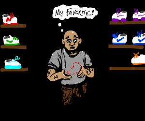 a guy lost is favorite shoe
