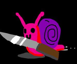 snail with a knife