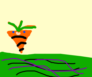 carrotman chillin with sum green water