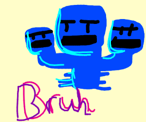 minecraft wither except it's blue