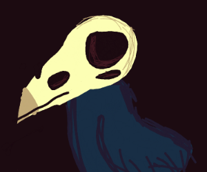 crow but with their skull on the outside