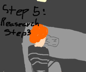 Step 4: ...wait, what was step 3 again?