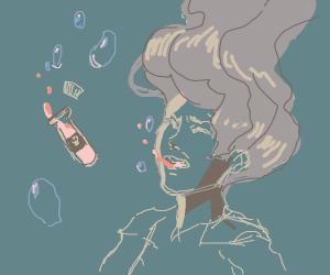 Person took poison underwater