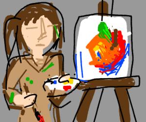 Someone painting