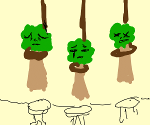 Depressed trees