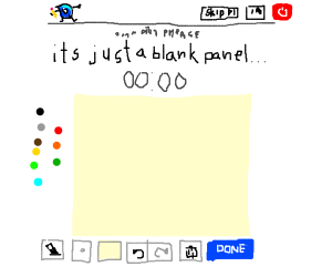 its just a blank panel..