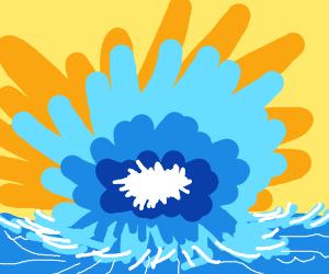 Crazy ocean explosion