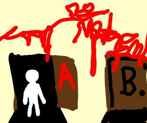 Door A?or door B?