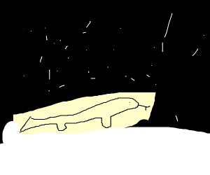 Lizard in a Snowstorm
