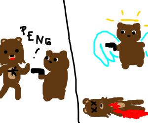 bear murders other bear then floats to heaven