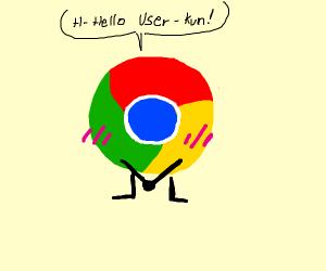 blushing google chrome