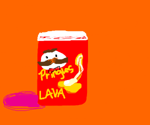 Lava flavoured Pringles - extremely hot!
