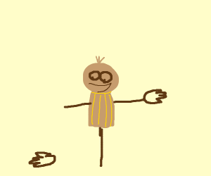 Scarecrow is amused by his missing hand