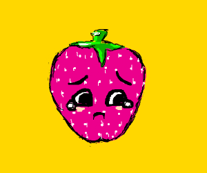 Sad kawaii strawberry