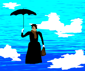 Mary Poppins' droppin in