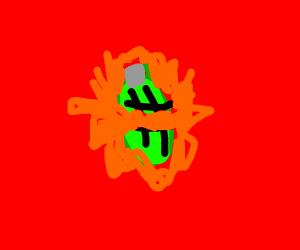 grenade explodes