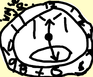 Mr. Angry Clock wants you to wake up!