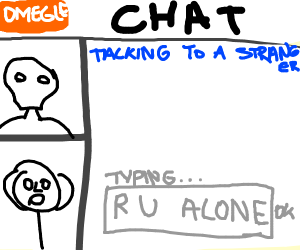 Lonely man yeets at himself on omegle