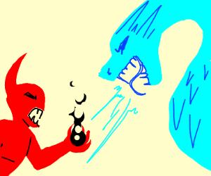 Ice Dragon VS Satan