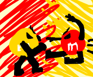 Yellow vs Red M&M