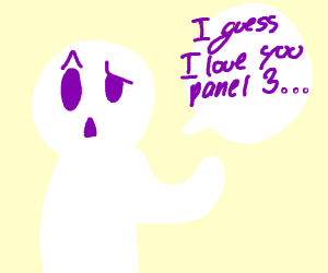 Hey, panel 2! Confess your love for panel 3!