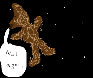 wolf man lost in space