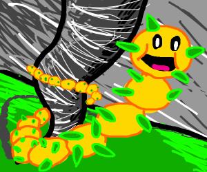 Mario cactus enemy with tornado