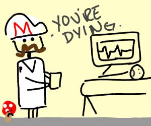 Doctor Mario gives terminal diagnosis