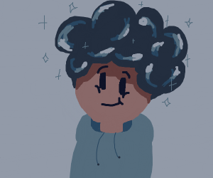 boy with shiny hair