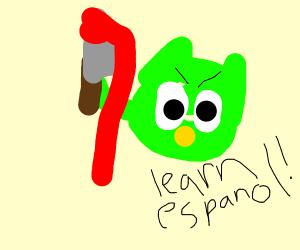 Duolingo Owl as a serial killer
