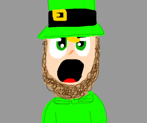 Surprised Leprechaun