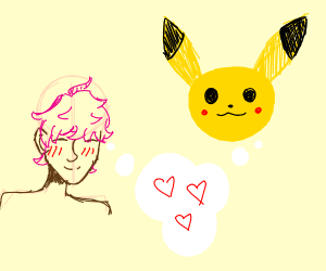 pikachu is in love with a human
