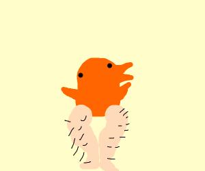 ...bird with hairy human legs