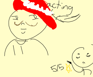 man acting is 5/5 stars