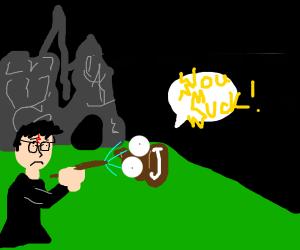 H. Potter failed at spell making(Destruction)
