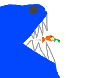 A fish eating another fish...