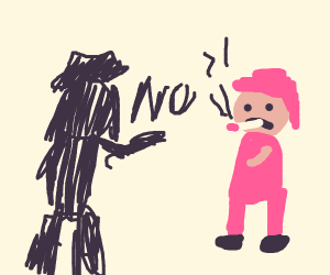 Cowboys shadow tells him to stop smoking