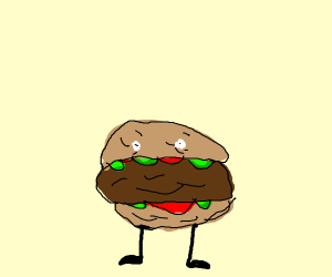 Burger with feet