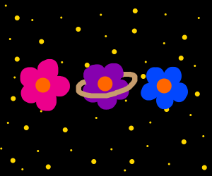 flower planets in space