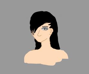 An Emo girl brooding