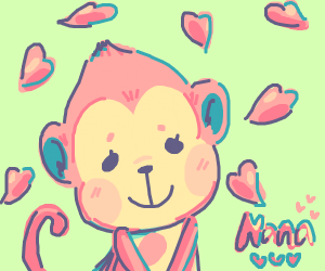 Cutest monkey ever loves you.  Nana