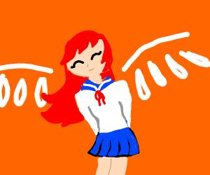 kawaii thot with wings