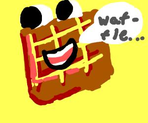 A waffle waffling