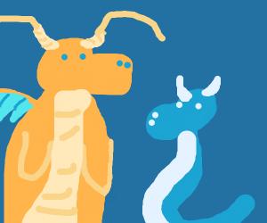 Dragonite and dratini