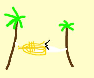 Trumpet on a hammock