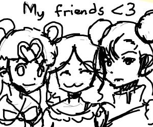 Girl made friends with Sailor Moon & Chun Li