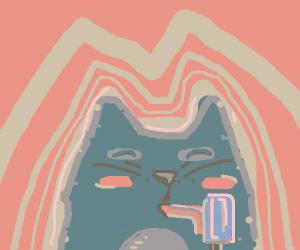 Cat's tongue is stuck in a popcicle