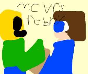 Roblox V Minecraft Who Will Win Drawception