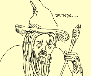 Tired Gandalf