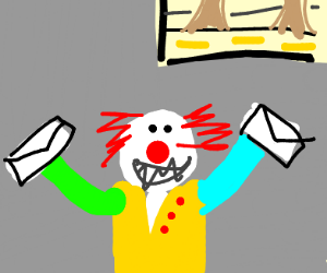 Pennywise has a lot of sewer mail